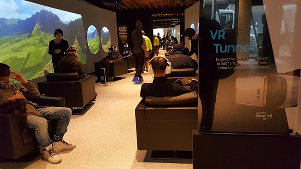 VR tunnel is part of Samsung 837 non-store experience in New York's Meatpacking District.