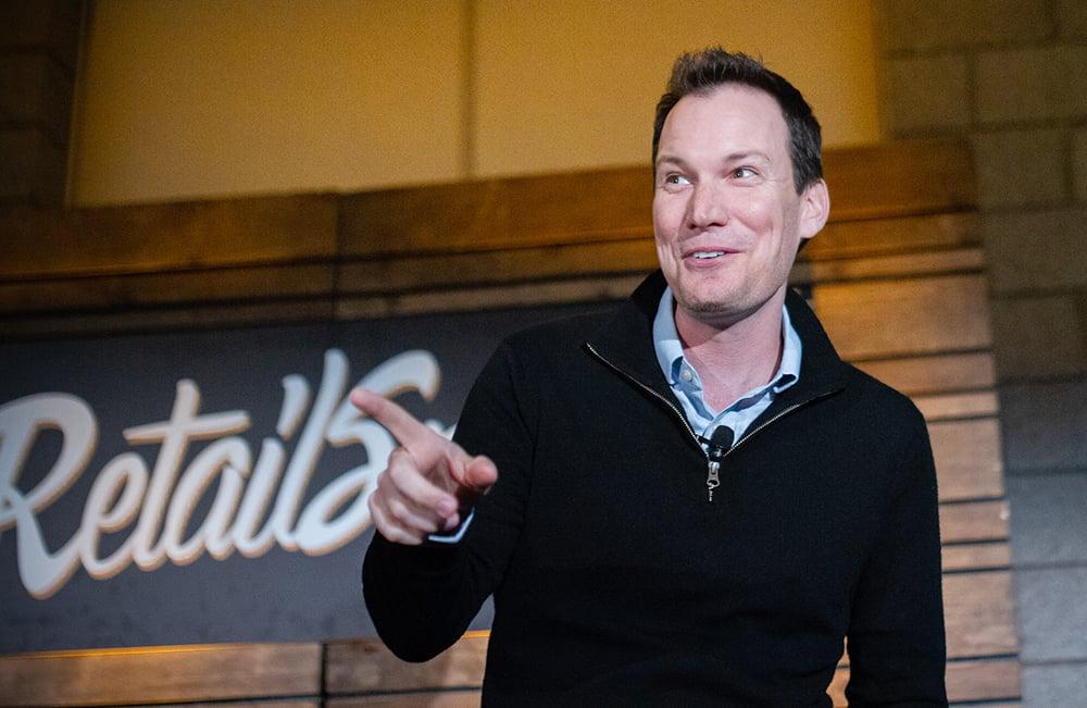 Shawn Achor speaking at RetailSpaces