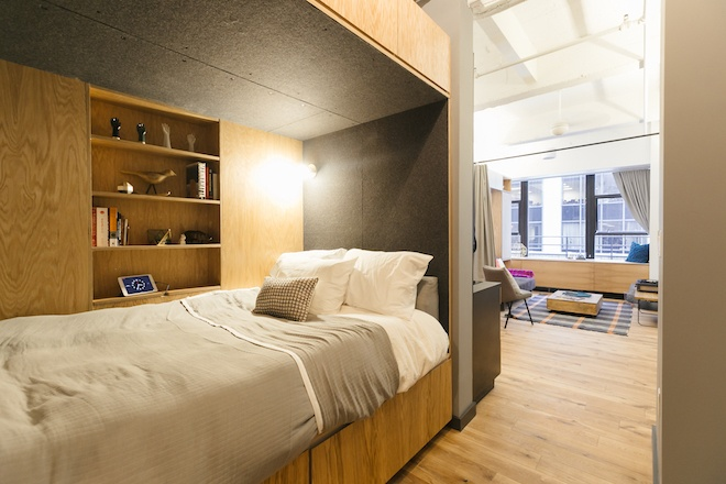 Image of recently opened co-living space connected to WeWork Wall Street.